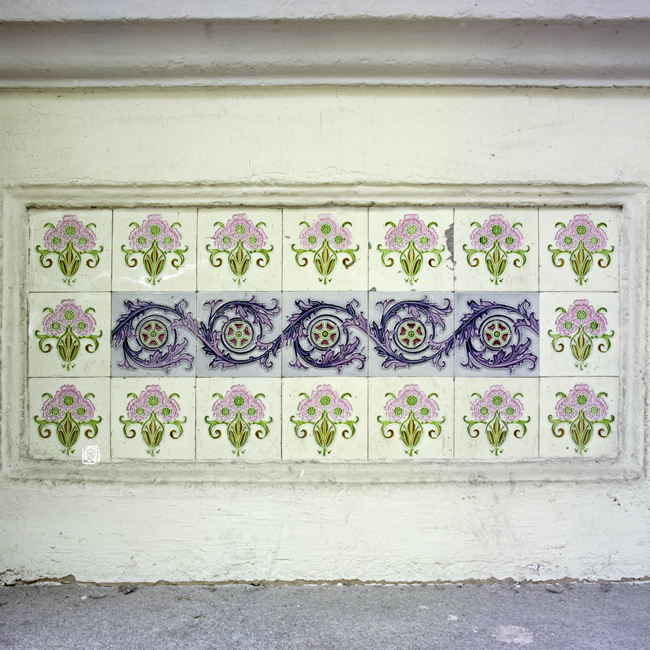 glazed and patterned tiles